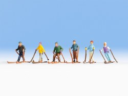 Skiers - Pack One (HO Scale)