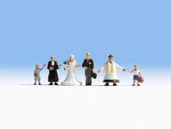 Wedding Group with Priest (HO Scale)