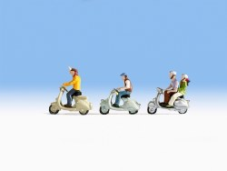 Scooter Riders (HO Scale)