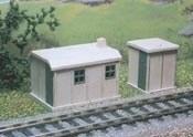 2 Concrete Huts