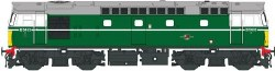 Class 27 D5404 in green with small yellow panels