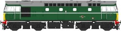 Class 27 D5347 in green with small yellow panels