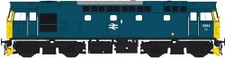 Class 27 5363 in blue with full yellow ends