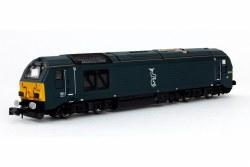 Class 67 67010 Caledonian Sleeper Blue