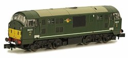 Class 22 B-B D6311 BR Green with Small Yellow Panels Disc Headcodes