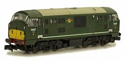 Class 22 B-B D6327 BR Green with Amended Yellow Panels Disc Headcodes