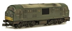 Class 22 B-B D6315 BR Green with Small Yellow Panels Weathered