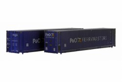 45 Ft Hi Cube Container P & O Ferry 008460 2 & 008037 7 Weathered