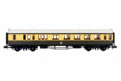 Collett Coach GWR Crest Choc Crm Brake Comp 6527