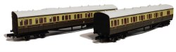 B Set Coach Pack GWR Cities Crest Chocolate & Cream 6411 & 6412