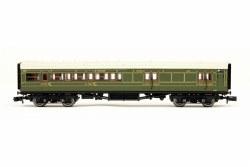 Maunsell Coach SR Brake 3rd Class Lined Green 3215
