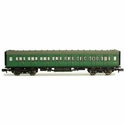 Maunsell Coach BR 3rd Class SR Green 823