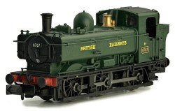 Pannier 8767 BR Green British Railways Later Cab