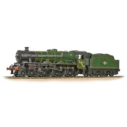 LMS 5XP 'Jubilee' with Riveted Tender 45654 'Hood' BR Lined Green (Late Crest)