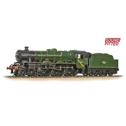 LMS 5XP 'Jubilee' with Riveted Tender 45654 'Hood' BR Lined Green (Late Crest) - Sound Fitted
