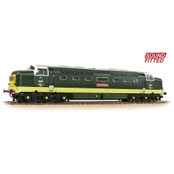 Class 55 'Deltic' D9010 'The King's Own Scottish Borderer' BR Two-Tone Green (Small Yellow Panels) - Sound Fitted