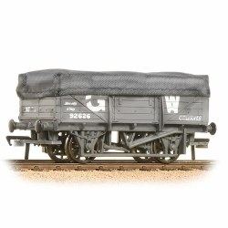 5 Plank China Clay Wagon with Hood GWR Grey Weathered