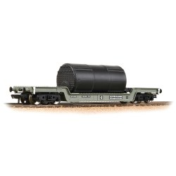 45T Bogie Well Wagon BR Grey (Early) - Includes Wagon Load