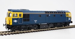 Class 33 BR Blue 33110 DCE Yellow Cab Side Stripes and Orange Cantrail Stripes)