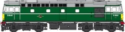 Class 33/0 BR Green D6540 with Small Yellow Ends