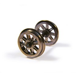 Metal Split Spoked Wagon Wheels x10