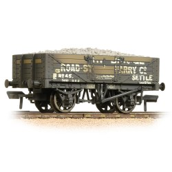5 Plank Wagon Steel Floor Weathered Helwith Bridge Road Stone Quarry - with Wagon Load