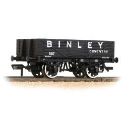 5 Plank Wagon Wooden Floor 'Binley' Black
