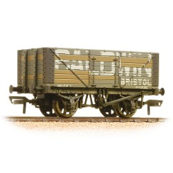 7 Plank Fixed End Wagon Baldwin Weathered