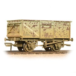 BR 16T Steel Mineral Wagon Top Flap Doors BR Grey (Early) - Weathered