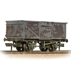 BR 16T Steel Mineral Wagon BR Grey (Late) - Weathered