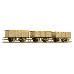 27 Ton ZKV Tipple Wagons BR Engineer 'Dutch' livery Weathered Triple Pack