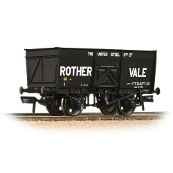 16T Steel Slope-Sided Mineral Wagon 'Rother Vale' Black