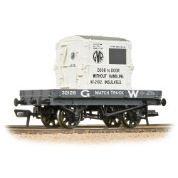 1 Plank Wagon GWR Grey With 'GWR' AF Container