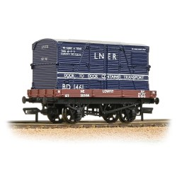 1 Plank Wagon LNER Bauxite With 'LNER' Blue BD Container