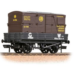 3 Plank Wagon GWR Grey With 'GWR' Brown BD Container