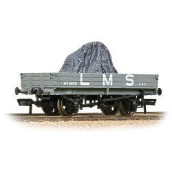 3 Plank Wagon LMS Grey - Includes Wagon Load