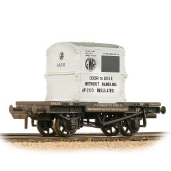 Conflat Wagon GWR Grey With 'GWR' AF Container - Weathered