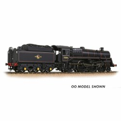 BR Standard 5MT with BR1 Tender 73050 BR Lined Black (Late Crest) - Weathered