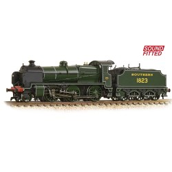 N Class 2-6-0 1823 Southern Railway Lined Maunsell Green (DCC Sound)