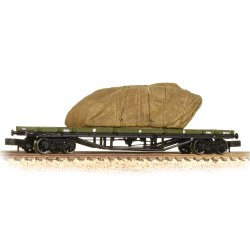 30 Ton Bogie Bolster WD WW1 Khaki with Sheeted Tank Load