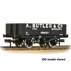 5 Plank Wagon Fixed End Wooden Floor 'A. Butler & Co.' Black