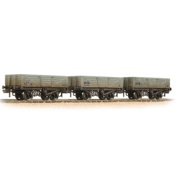5 Plank 3-Wagon Pack BR Grey (Early) - Weathered