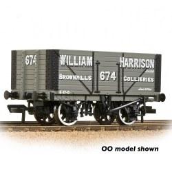 8 Plank Wagon Fixed End 'William Harrison' Grey
