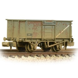 BR 16T Steel Mineral Wagon With Top Flap Doors BR Grey (Early) - Weathered