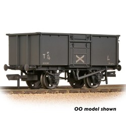 BR 16T Steel Mineral Wagon Top Flap Doors NCB Grey - Weathered