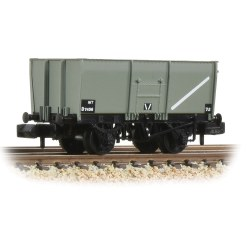16T Steel Slope-Sided Mineral Wagon Riveted Side Door BR Grey (Early)