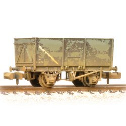 16T Steel Slope-Sided Mineral Wagon BR Grey (Early) - Weathered
