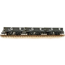 Triple Pack China Clay Wagons GWR Grey (no hoods)