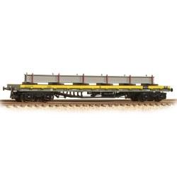 80 Tonne glw BDA Bogie Bolster Wagon Departmental Yellow with Load
