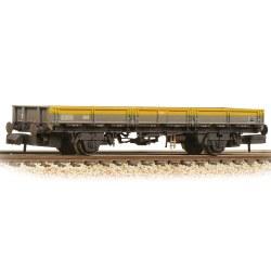 BR ZAA 'Pike' Open Wagon BR Engineers Grey & Yellow - Weathered